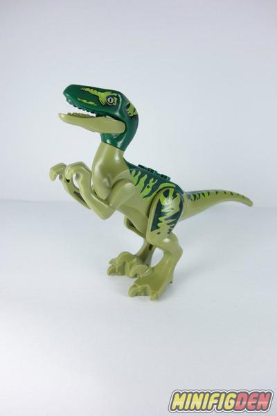 Velociraptor (Olive Green, Dark Green Head) - Animals - Dinosaurs